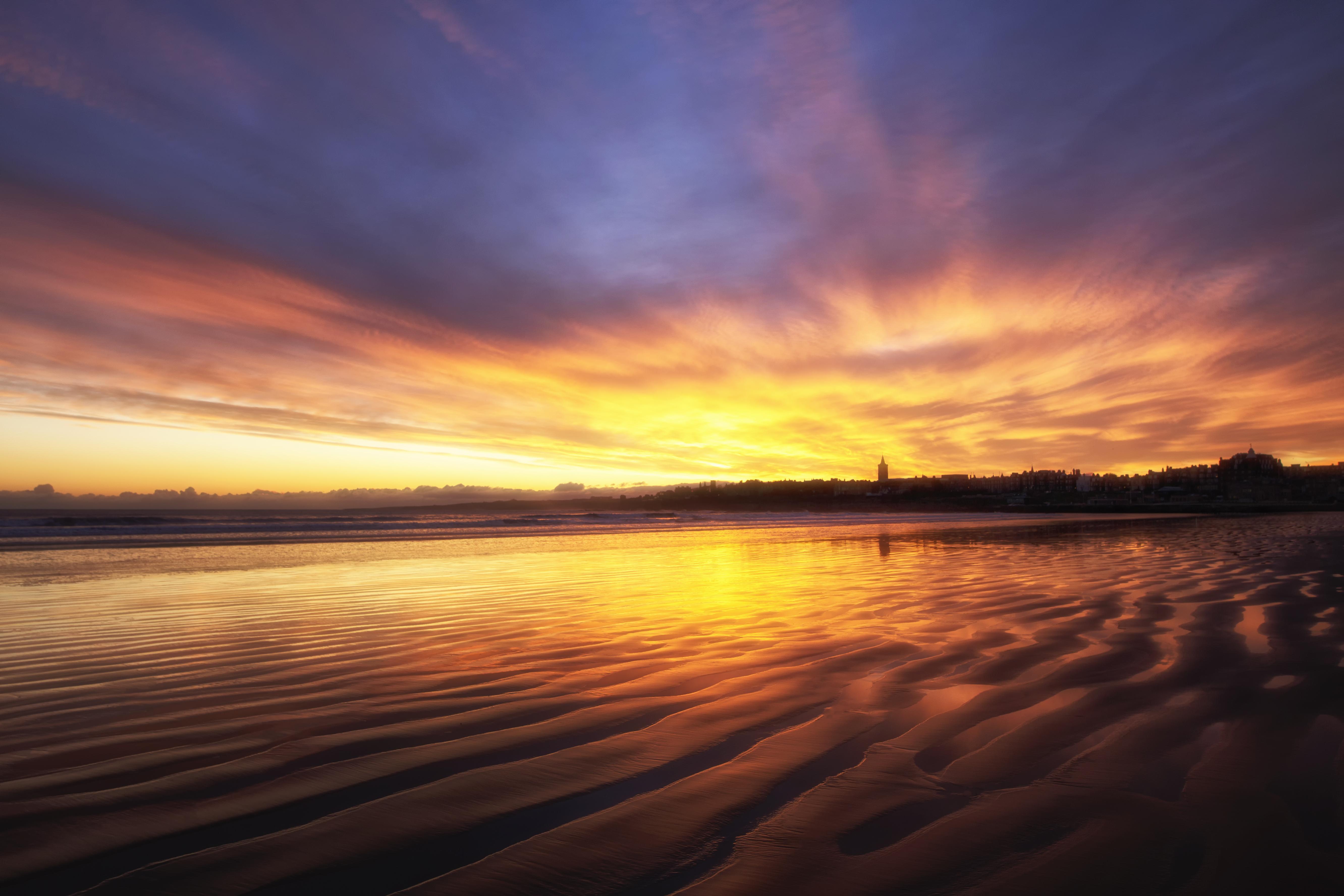 Sunrise over West Sands