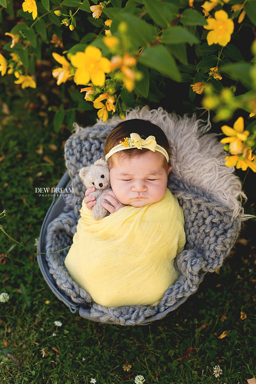 Session nouveau-né au parc, portrait de 30*40cm imprimé et 5 fichiers en HR