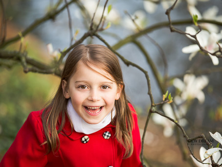 Spring is here - time for outdoors children and family portraits!