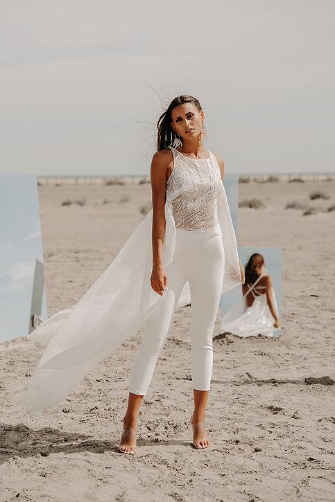 10H30 pantalon mariee civil top dos nu couture createur marseille