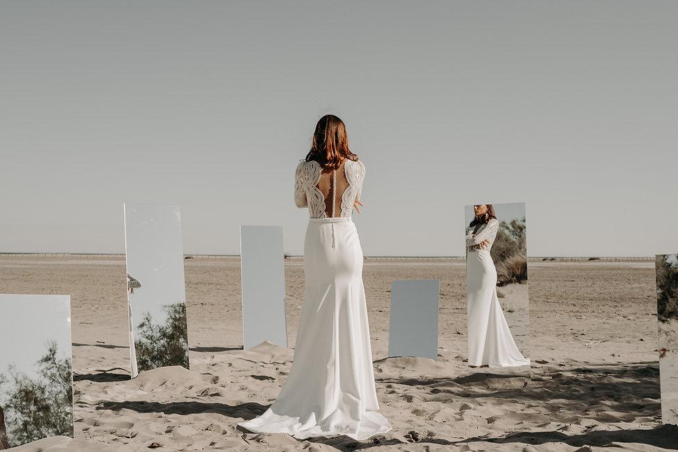 19H00 robe mariee graphique transparence romantique createur marseille