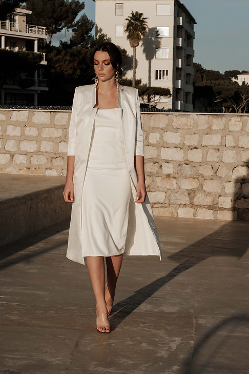 LIV robe mariee pret-a-porter blanc robe tailleur made in france