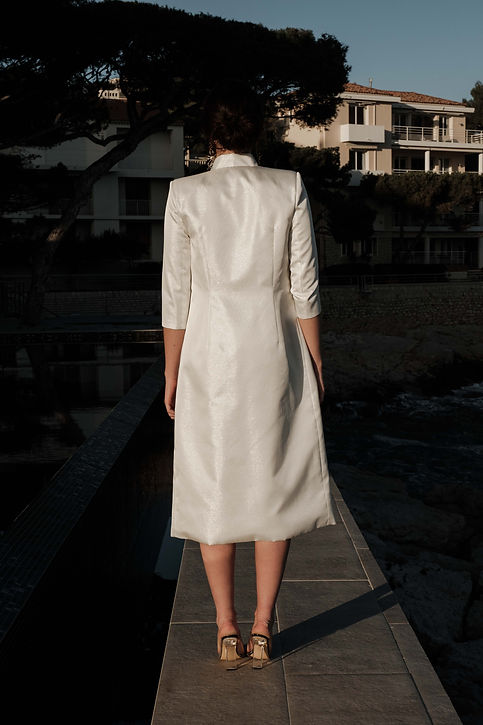 PAZ manteau mariee pret-a-porter blanc made in france