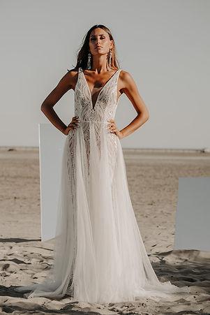 21H00 robe mariee sirene tulle sensuelle moderne dentelle createur marseille