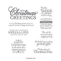 Greatest Part Of Christmas Host Cling Stamp Set (En)