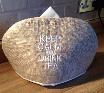 hessian tea cosy