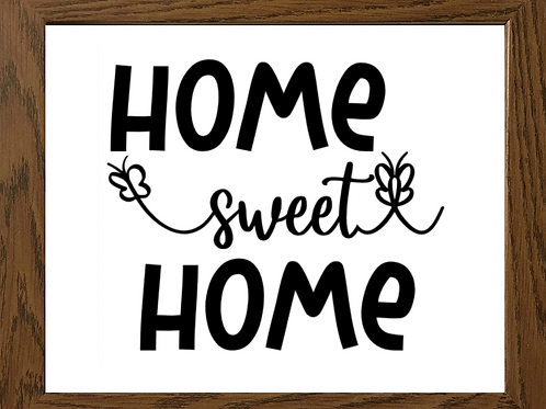 Home Sweet Home Vinyl Sign Decal