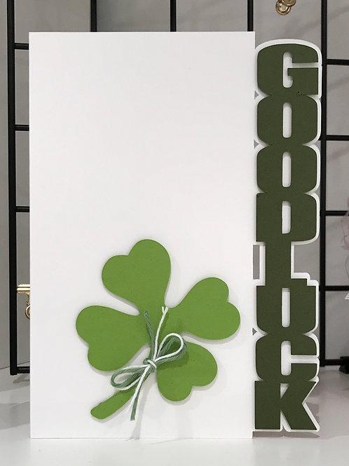 Good Luck - Vertical Edge Card