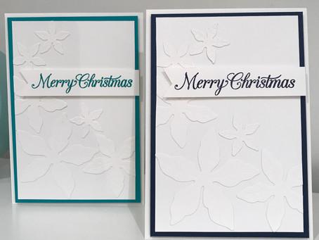 Poinsettia Card Using Stampin Up's Adhesive Sheets