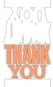 ds3, cricut,shaped card, thank you,