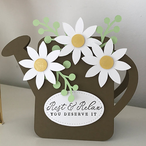Watering Can Shaped Card Cutting File