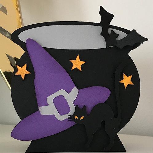 Cauldron Shaped Treat Holder
