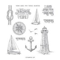 Sailing Home Cling Stamp Set
