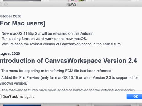 Canvas Workspace On Mac & Big Sur