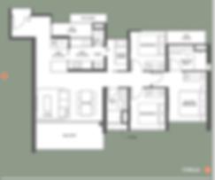 Type D1 floor plan