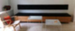 Loungesofa, sofa med skuffer, snedker københavn