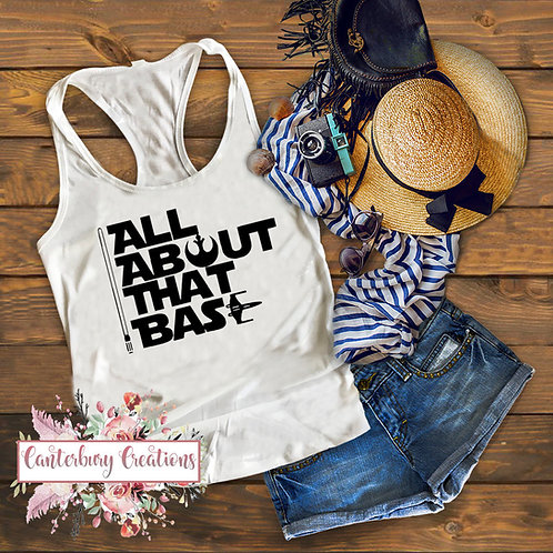 All About That Base Ladies Racerback Tank Top