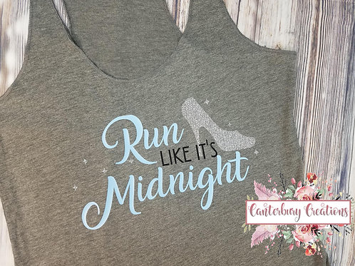 Run like it's Midnight Ladies Racerback Tank Top