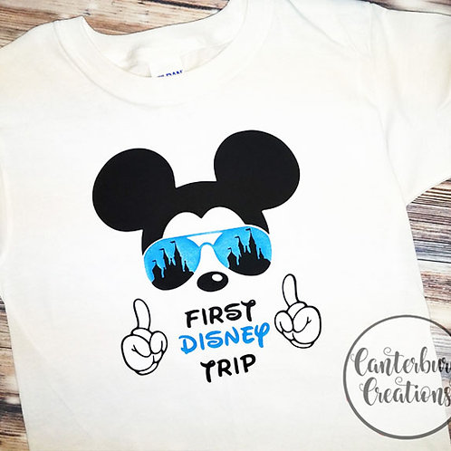 My First Trip Mickey Youth T-Shirt