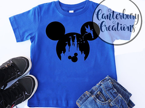 Tinkerbell Castle with Mickey Youth T-Shirt