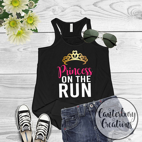 Princess on the Run Ladies Racerback Tank Top