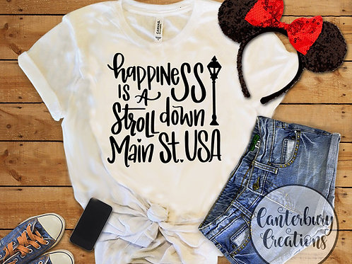 Happiness is a Stroll Down Main Street Youth T-Shirt