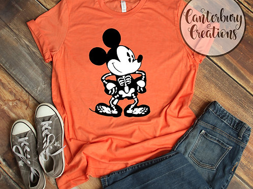 Mickey Skeleton Adult T-Shirt