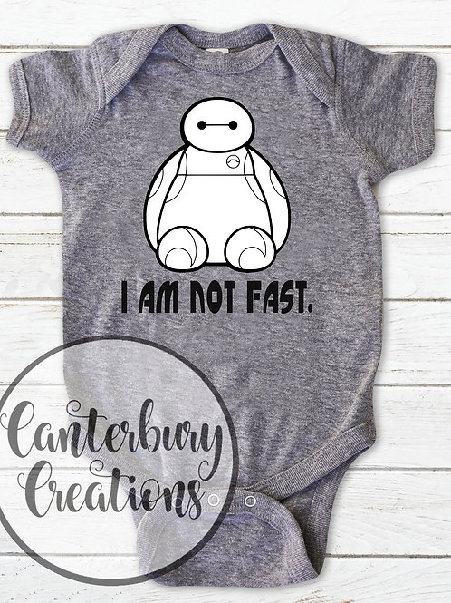 I am not Fast Infant Bodysuit