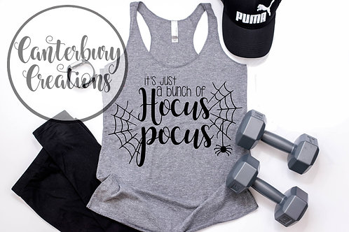 It's Just a Bunch of Hocus Pocus  Ladies Racerback Tank Top