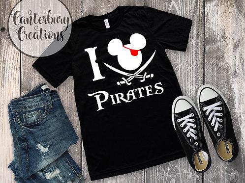 I love Pirates Youth T-Shirt