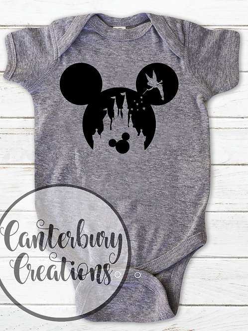Tinkerbell Castle with Mickey Infant Bodysuit