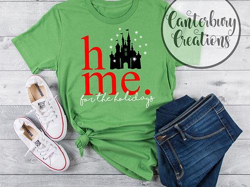 Disney Castle Home for the Holidays Shirt