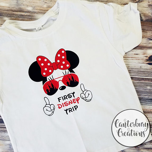 My First Trip Minnie Toddler T-Shirt