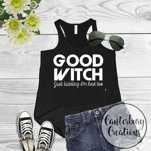 Good Witch Ladies Racerback Tank Top