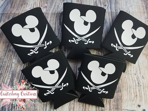 Pirate Mickey Neoprene Can Holder