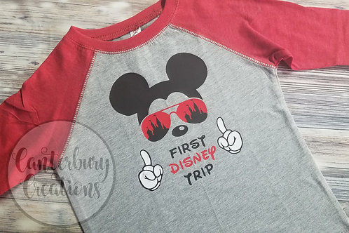 My First Trip Mickey Raglan Shirt