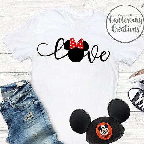 Love Minnie Adult T-Shirt
