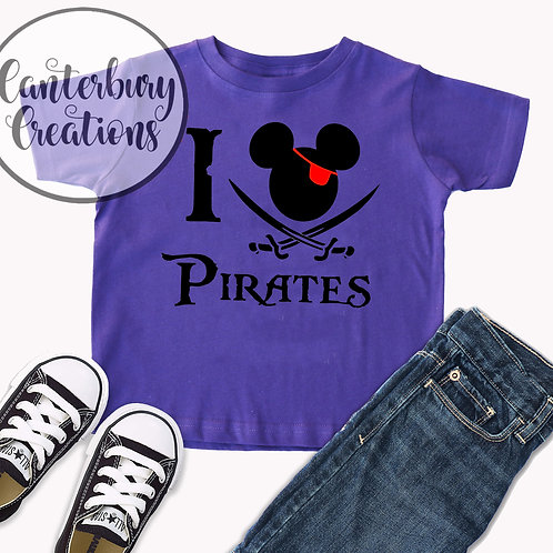 I love Pirates Toddler T-Shirt