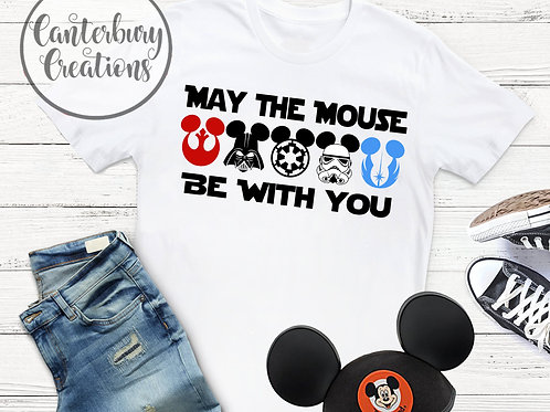 May the Mouse be with You Adult T-Shirt