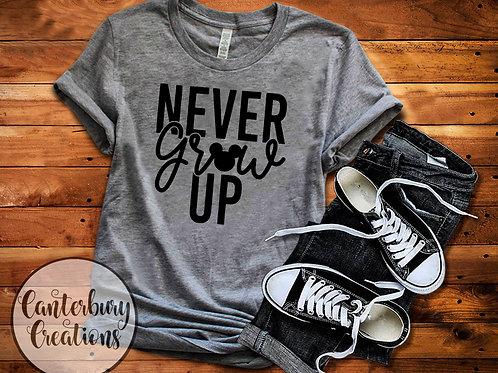 Never Grow Up Adult T-Shirt