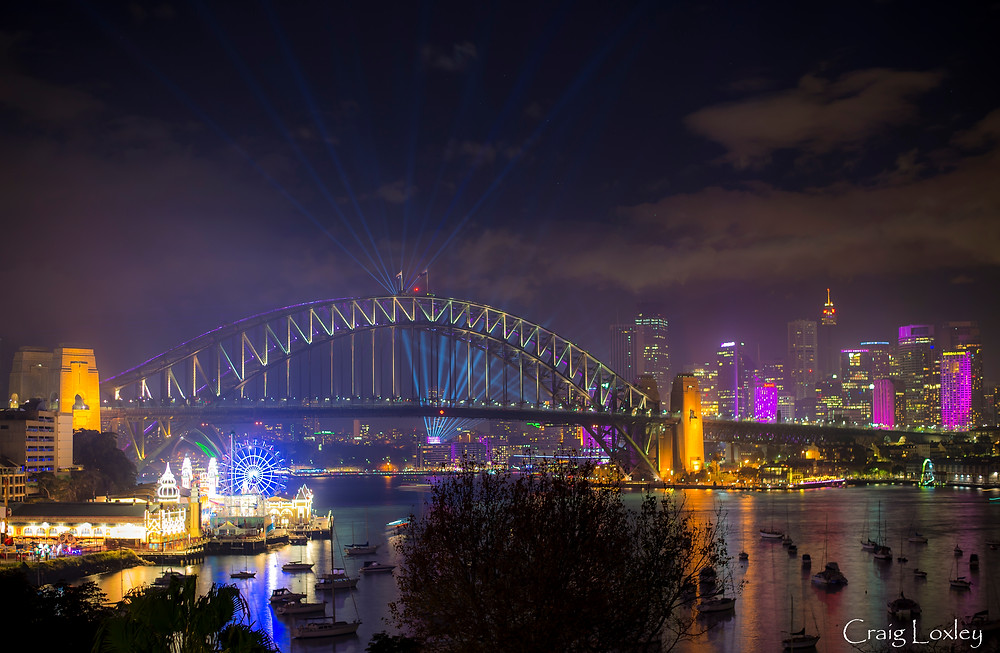 Vivid Sydney from Lavender Bay