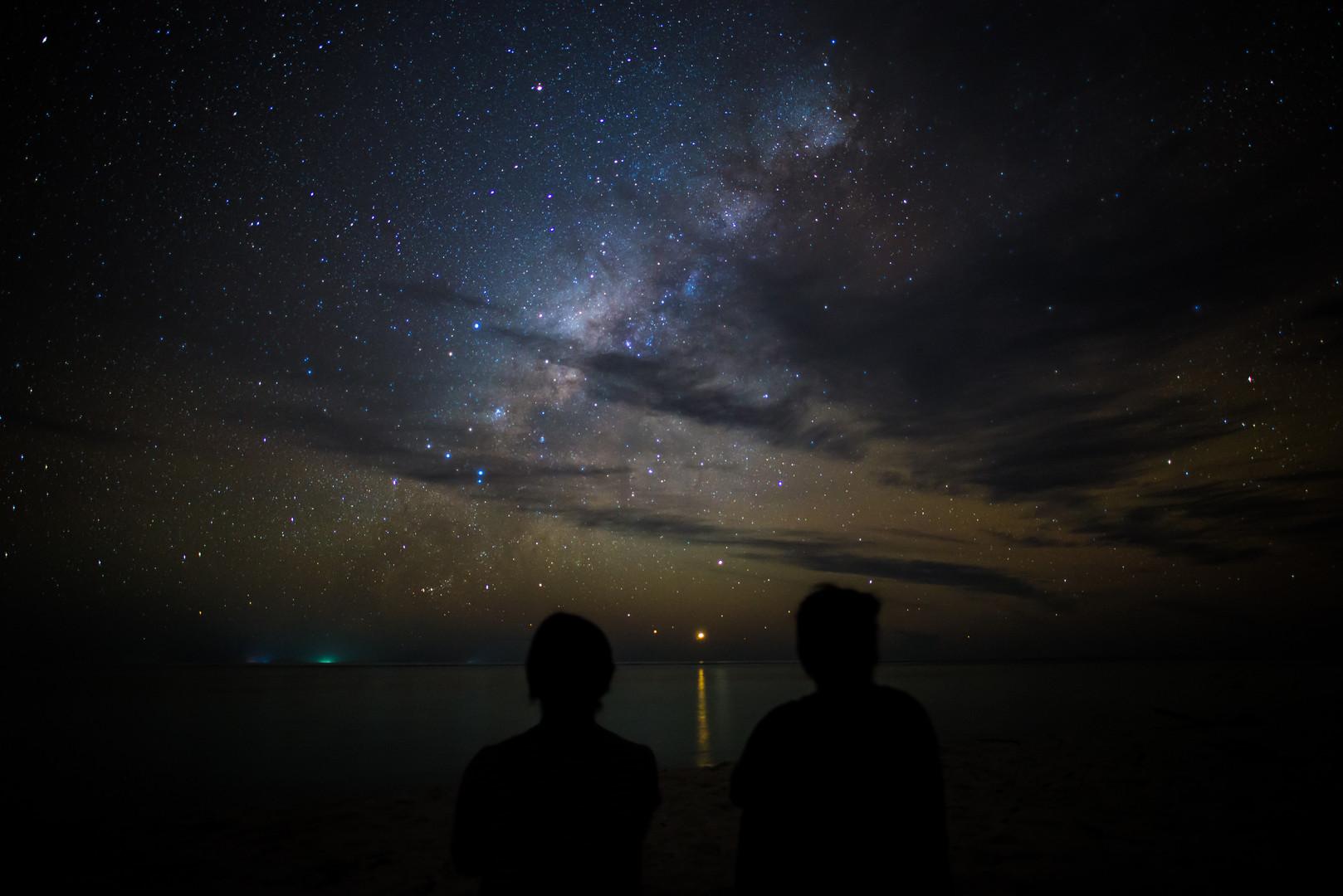 Portrait under the Milky Way