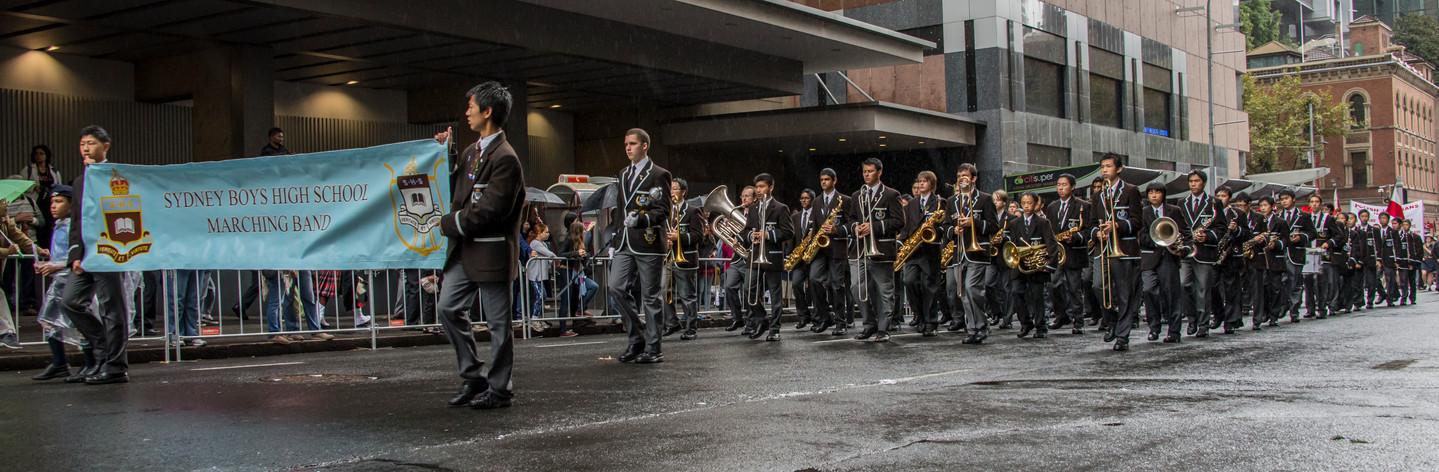 Sydney Boys High School in the ANZAC Day march