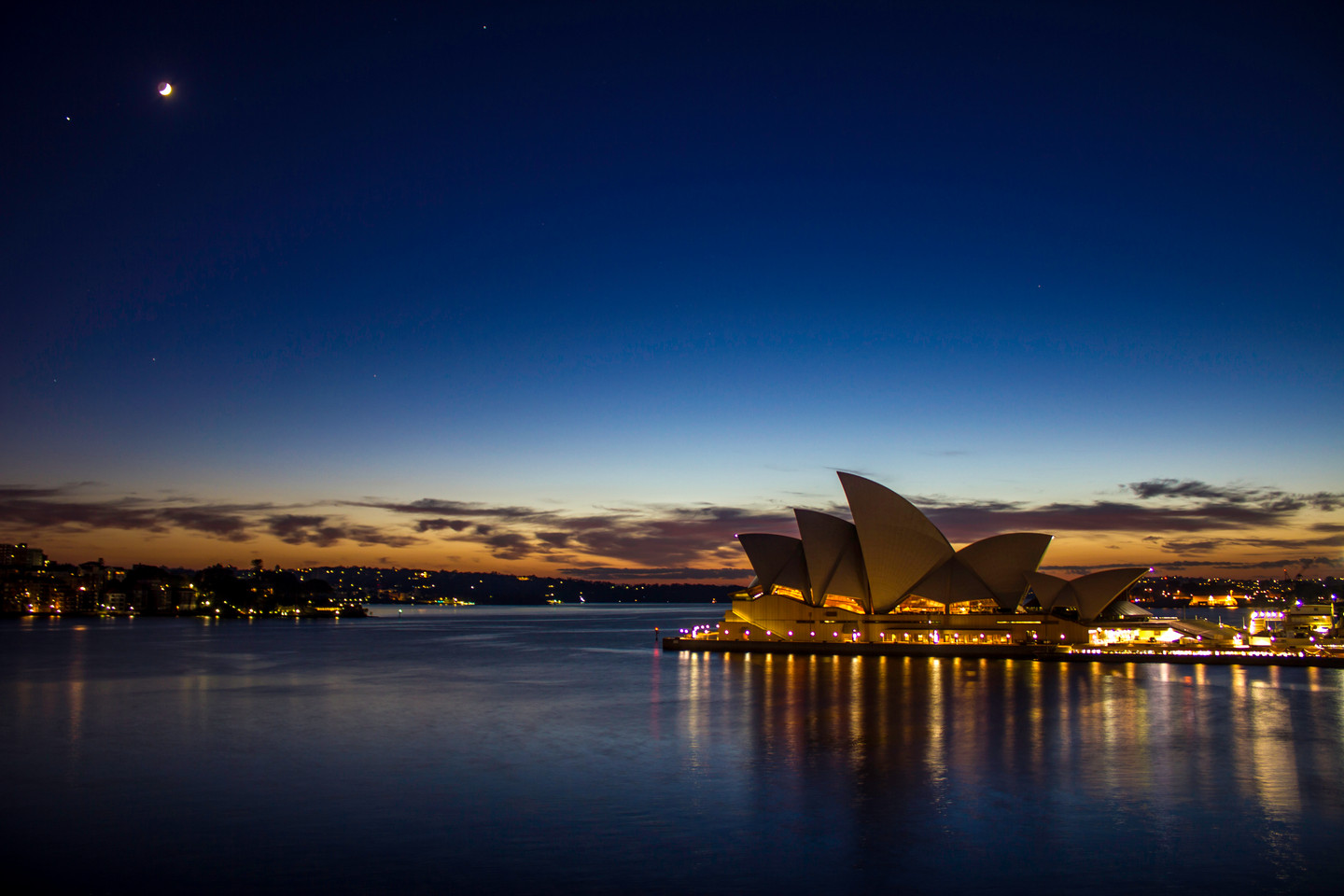 Sunrise Behind Sydney Opera House