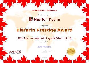 Newton Rocha - Biafarin Prestige Award -
