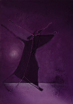 Dancing With the Shadow. 70x50x4cm.