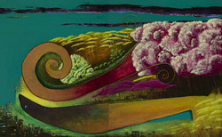 The Snail and The Seal. 126x80x4cm.