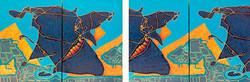 Black Butterfly I. 100x70x3cm each/cada. Both Images/Duas imagens.