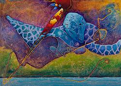 Aquabird. 70x50x3cm.