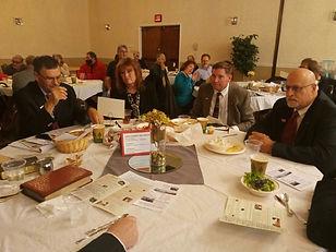 Agora Banquet 2020 tables Rich, Simpson